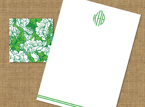 graphic floral + arc monogram