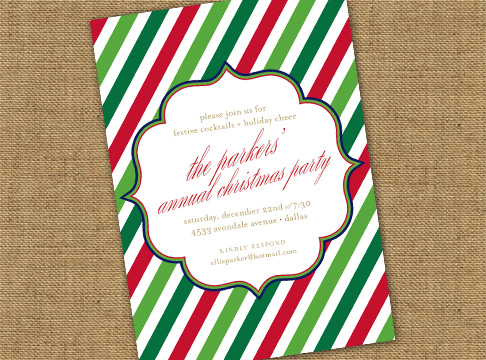 rep stripe holiday invitation