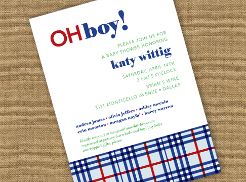 Wittig OhBoy! Baby Shower Invite